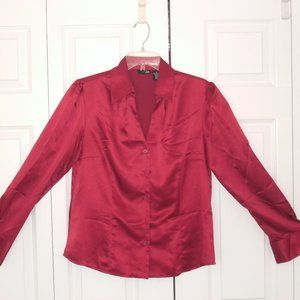 East 5th Red & Alia Leopard Button Front sz 12